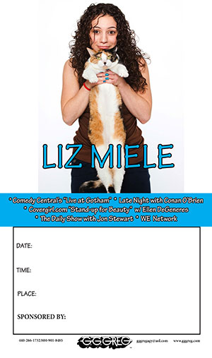 Liz Miele Poster with her Cat